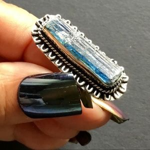 Rough Kaynite Gemstone Ring